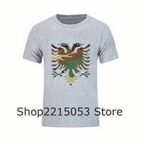 Забавный мастер футболки новый бренд Camo албанский Орел короткий рукав Для мужчин Футболки для женщин с круглым вырезом подростков мужчина t...