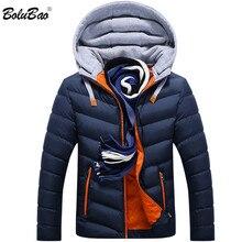 BOLUBAO 2018 Новая зимняя мужская парка Теплая пуховая куртка Повседневная парка мужская куртка повседневная приталенная куртка с капюшоном пальто Мужская