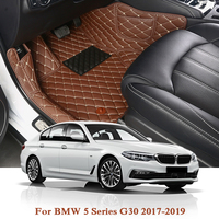 Car Styling For BMW 5 Series G30 2017 2019 LHD 5Seat Car Floor Mats Customs Rugs Auto Leather Foot Mat Pads Interior Accessories