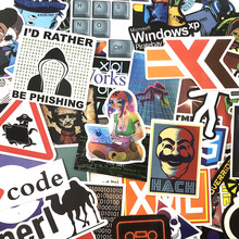 72Pcs/Pack Programming Graffiti Stickers Hacker Stickers Java C++  For Luggage Skateboard Laptop Motorcycle PVC Sticker