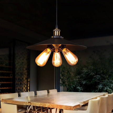 Loft Style Iron Industrial Droplight Edison Vintage Pendant Lamp Dining Room RH Hanging Light Fixtures Indoor Lighting loft style metal water pipe lamp retro edison pendant light fixtures vintage industrial lighting dining room hanging lamp