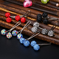 24pc/lot Scarf Clips Broches Women Fashion Jewelry Simple Brooch Colorful CZ Diamond Pins Scarf Shawl Scarves Mini Cute Clips