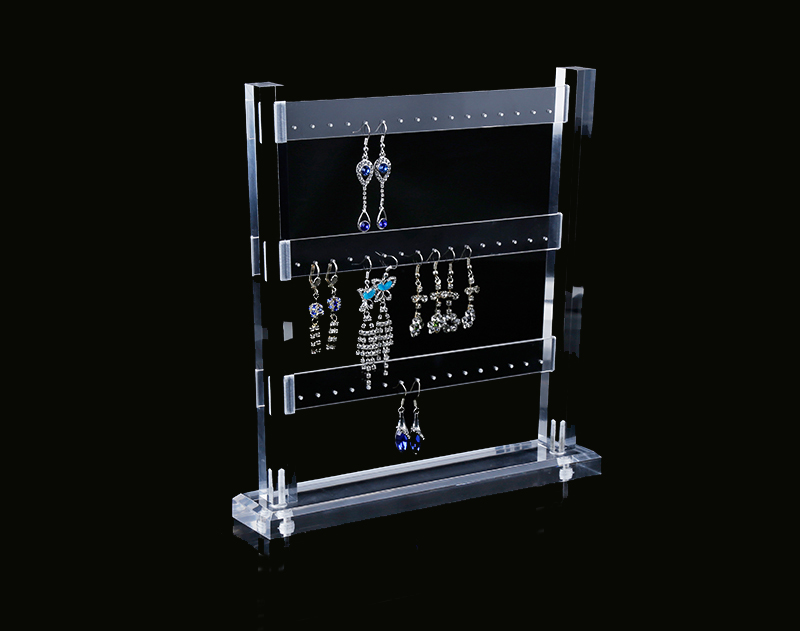 Transparent Acrylic Earring Holder Organizer Hanger Display Stand With 48 Holes Detachable недорго, оригинальная цена