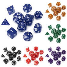 Atacado 10 pc/lote Cortam o Jogo D4, D6, D8, D10, D12, D20, D24, d30 Diferentes Cores Jogos Dices(China)