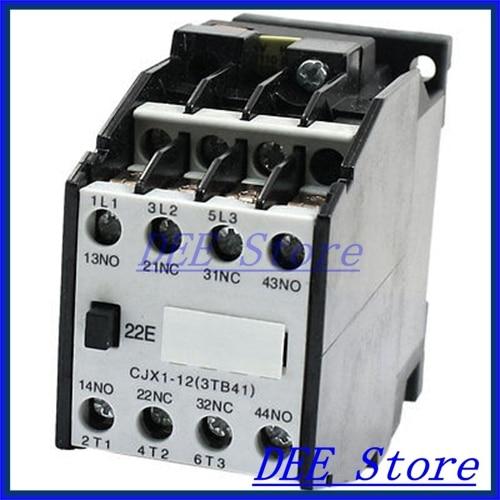CJX1 12 3 Pole 2NO 2NC 129V 60HZ Coil AC Contactor for Motor Control