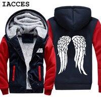 IACCES מותג לעבות קפוצ 'ונים מעיל הליכה המלח זומבי דריל דיקסון חולצות צמר כנפי בגדי רוכסן העליונה של גברים מתנות