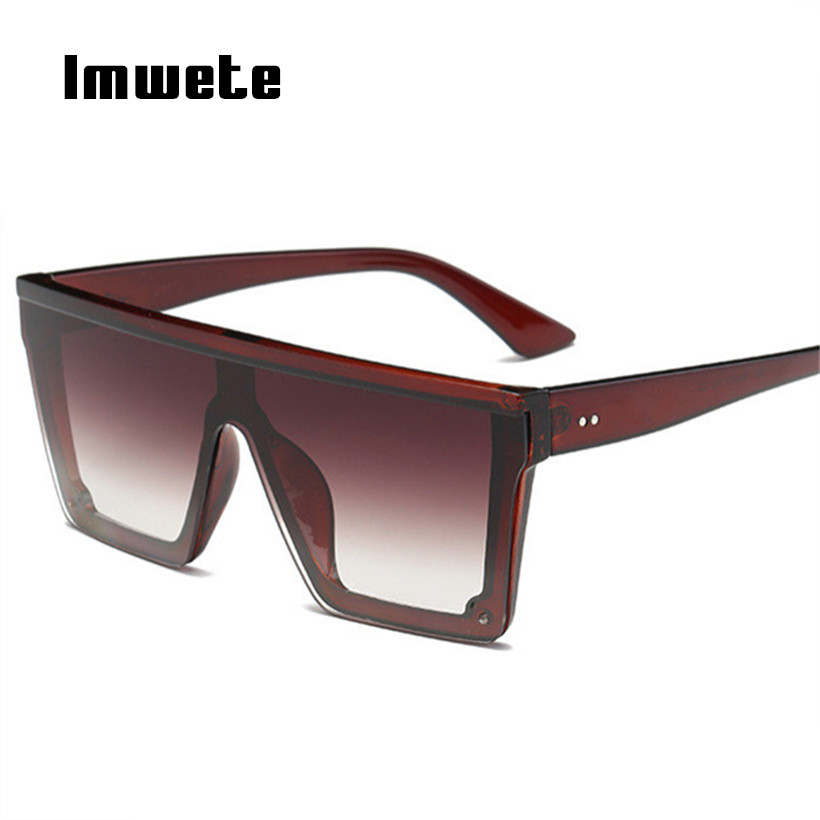 8cd442a546 Imwete Oversized Sunglasses Women Retro Brand Designer Gradient Sun Glasses  Men Vintage Shades Eyewear Big Frame Glasses