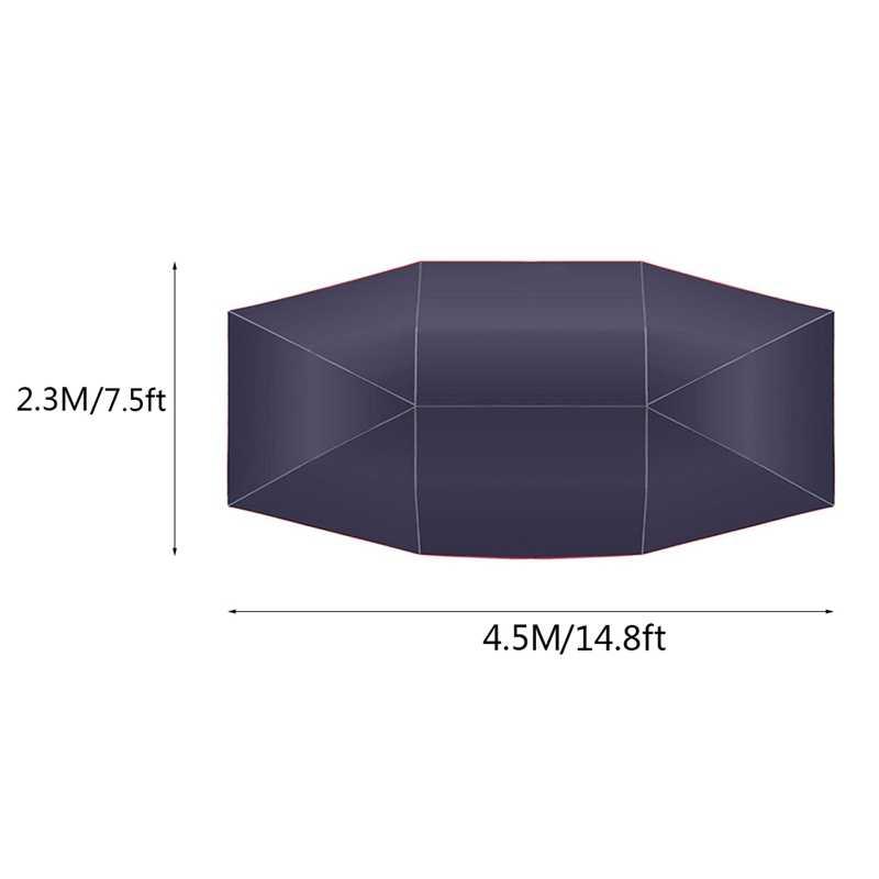 4.5 × 2.3M 新しい屋外の車の車両テント車の傘太陽シェードカバーオックスフォード布ポリエステルブラケットなしでカバー