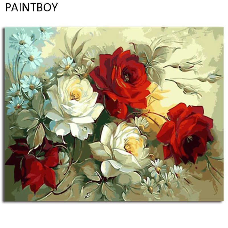 PAINTBOY Framed Picture DIY Oil Painting By Numbers On Canvas DIY Digital Canvas Oil Painting Wall Art Painting And Calligraphy