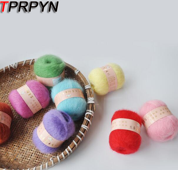 TPRPYN 1Pc=50g Angola Mohair Cashmere Wool Yarn For Knitting Scarf Shawl Sweater Hat