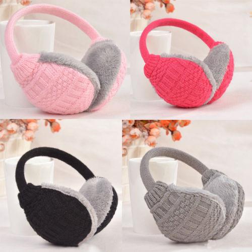 Women Men Winter Plush Ear Pad Back Wear Earmuffs Headband Warmer Gift Healthy