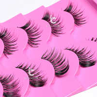 ICYCHEER Makeup Black/Brown Soft 5 Pairs Half False Eyelashes Corner/Mini Eye Lashes Handmade Eyelash Extensions Set