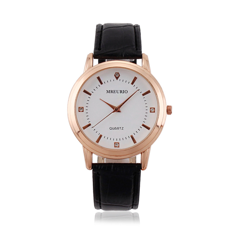 Leather Lover's Watches Simple Elegant 12 Roman Numerals Black Waterproof Couple Watch Gifts for Men Women Clock Reloj Mujer