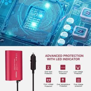 Image 3 - VicTsing Auto Power Inverter DC 12V zu 110V AC Converter QC 3,0 Tragbare Auto Adapter 150W Power inverter Adapter mit Dual USB