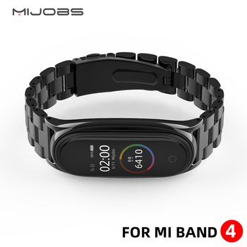 Mi Band 4 Strap Metal Stainless Steel For Xiaomi Mi Band 3 Strap Compatible Bracelet Miband 3 Wristbands Pulseira Miband3