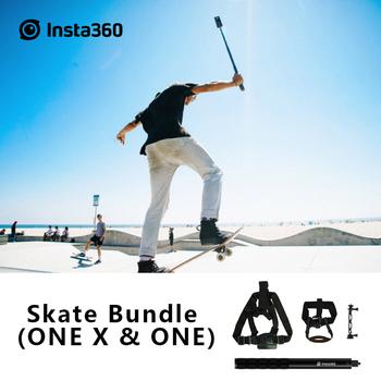 Insta360 Back Skete Bundle jeden i jeden X akcesoria do kamer sportowych Skateboarding i akcesoria sportowe Longboarding tanie i dobre opinie ONE X And ONE 360 ° Wideo Kamery Akcesoria Zestawy