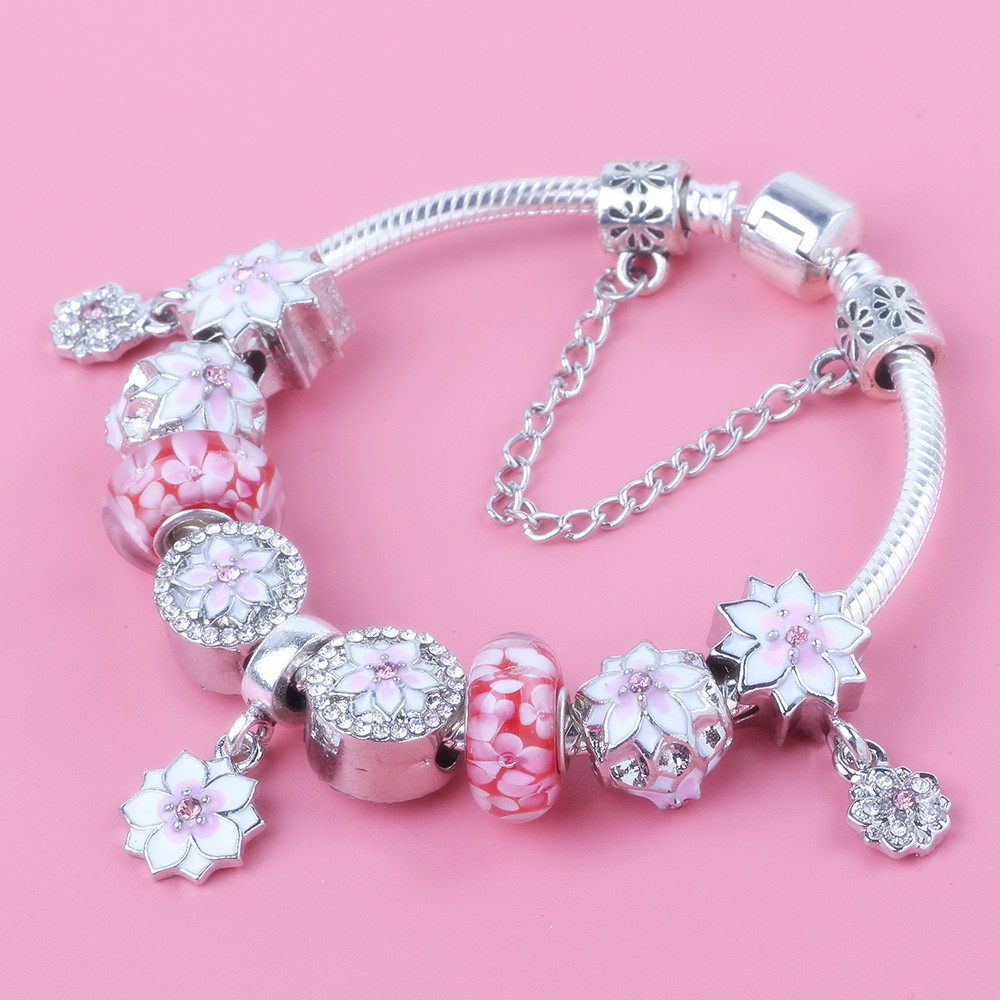 Jewelry & Accessories Objective Spinner Multi-colored Crystal Bead Fit Pandora Charm Bracelet For Gift Jewelry Wholesale Gift Attractive And Durable