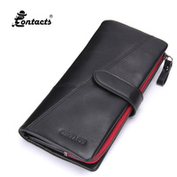 CONTACT S N1103 4 Crazy Horse Cowhide Leather Real Genuine Leather Men Wallets Fashion Purse Brand