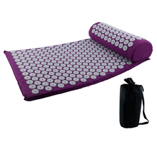 купить 2019 New Massager Cushion Yoga Mat Acupressure Relieve Stress Back Body Pain Spike Mat Acupuncture Massage Yoga Mat With Pillow по цене 1103.32 рублей
