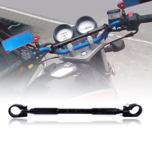 1PC Universal Motorcycle Handlebar Black Aluminum Alloy Cross Bar 7/8 22mm For Honda Kawasaki