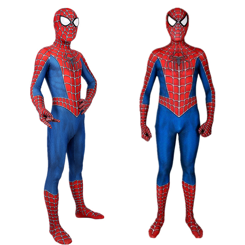 High quality Classic Remy spiderboy costume Kids Adult Lycra Spandex Spider Boy Tights For Halloween Mascot CosplayMovie & TV costumes   -