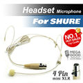 Free Shipping! Condenser Headworn Headset Microphone with Mini 4 Pin XLR TA4F Connector for Shure Wireless Body-Pack Transmitter