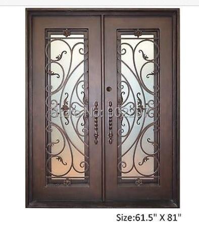 Portes décoratives en fer forgé portes en bois et en fer