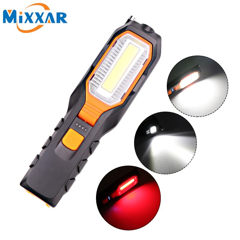 ZK20 Dropshipping COB LED Worklight USB Rechargeable Working Flexible Magnetic Lamp Flashlight Emergency Light Torch lanterna