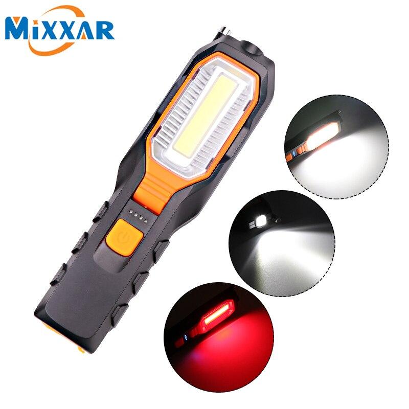 ZK20 livraison directe 4000Lm COB LED lampe de travail USB Rechargeable travail Flexible magnétique lampe d'inspection lampe de poche lumière de secours