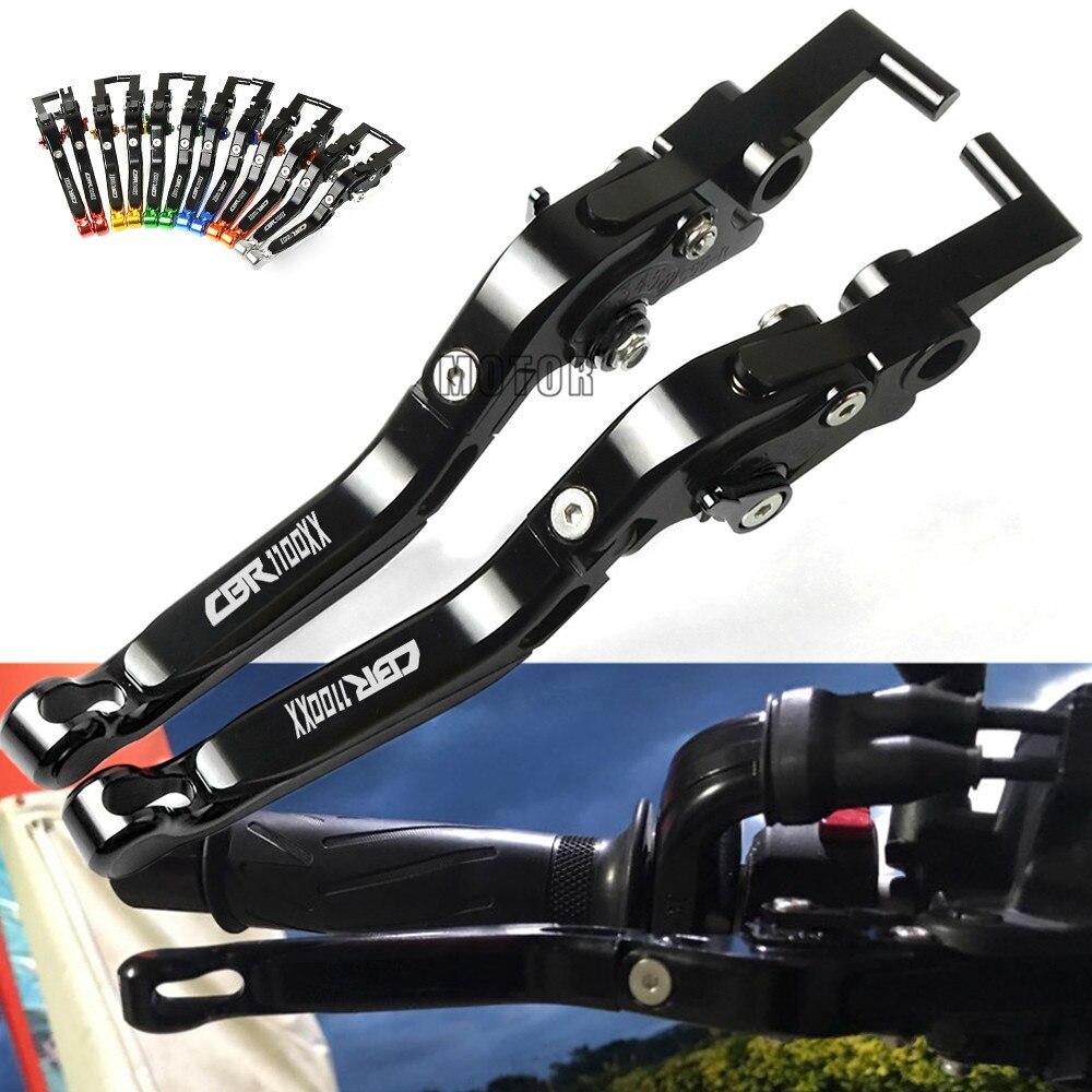 Motorcycle Adjustable Brake Clutch Lever For Honda CBR 1100 XX BLACK BIRD CBR1100XX BLACKBIRD 1997 2007 2006 2005 2004 2003 2002