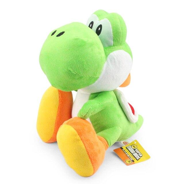 """11 """"28 cm Super Mario Bros Yoshi muñeco de peluche con etiqueta suave Yoshi muñeca chico envío gratis"""