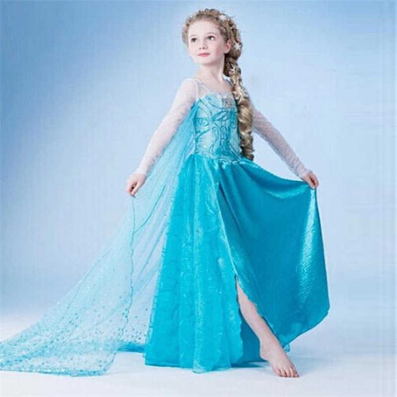 Halloween Costumes For Kids Girls 9.Dresses Girls Princess Anna Elsa Cosplay Halloween Costume Kid S Party Dress Snow White Kids Girls Clothes 4 6 7 8 9 10 Years