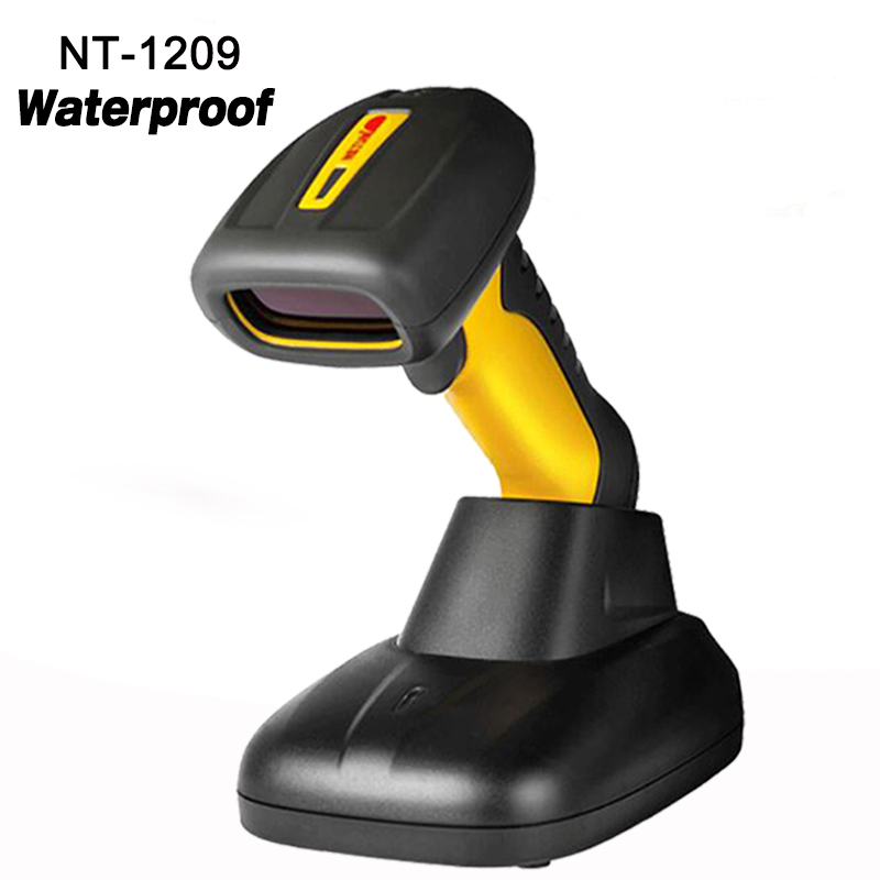 High quality waterproof wireless Handheld Scanner 1D laser Barcode Reader high speed wireless barcode scanner for Supermarket high quality 1d laser mini handheld barcode scanner usb interface support automatic light anchor and off reader