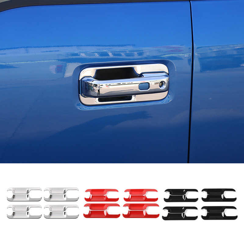 MOPAI Car Exterior ABS Side Door Handle Bowl Decoration Trim Cover Set Stickers For Ford F150 F-150 2015 Up Car Styling exterior 4pcs abs chromed lower door