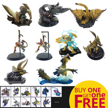 цена на MHW Game Monster Hunter World PVC Models Toy Collectible Dragon Monsters Action Figure Gifts