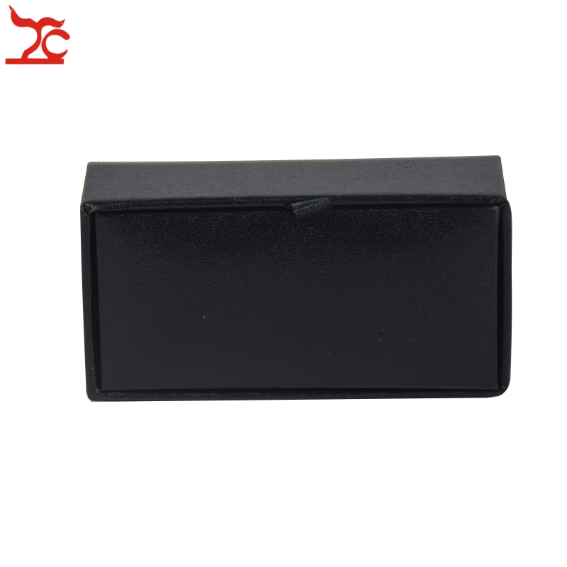 Free Shipping High Quality 60Pcs Mens Luxury Leather Cufflinks Storage Organizer Gift Box Case Black CuffLink Display Holder Box