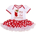 My 1st Christmas Costumes for Kids Children Clothes Newborn Baby Girl Christmas Rompers Dress Jumpsuit Overalls Infant-Clothing