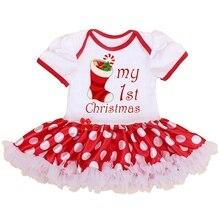 Mon 1er Costumes De Noël pour Enfants Enfants Vêtements Nouveau-Né Bébé Fille De Noël Barboteuses Robe Salopette Salopette Infantile-Vêtements