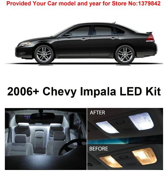 Acheter Livraison Gratuite 5 Pcs/Lot voiture style Xenon Blanc Canbus Paquet Kit LED Éclairage Intérieur Pour Chevy Impala 2006 & Up de led interior light fiable fournisseurs