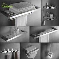 Wand Montiert Handtuch Rack 304 Edelstahl Badezimmer Zubehör Set Bad Hardware Wc Regal Set Bad Handtuch Halter