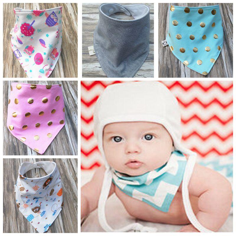 3pcs baby bibs high quality triangle double layers character one size fashion bandana unisex burp cloths saliva towel bib cotton