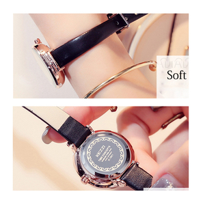 Image 5 - KEZZI Brand Simple Women Leather Watches Fashion Crystal Small Quartz Watch Ladies Waterproof Wristwatch For Women Reloj Mujer
