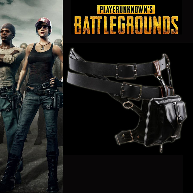 Hot Game PUBG Playerunknown's Battlegrounds Cosplay Accessories Pu Leather Waist Bag Belt Group Custom Made