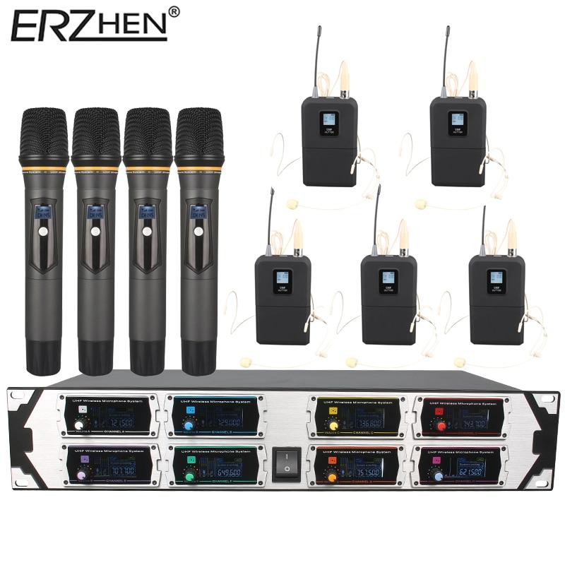 Kablosuz Mikrofon Yeni U9000GTA UHF 8 Kanal Sabit Frekans + Dinamik - Taşınabilir Ses ve Görüntü