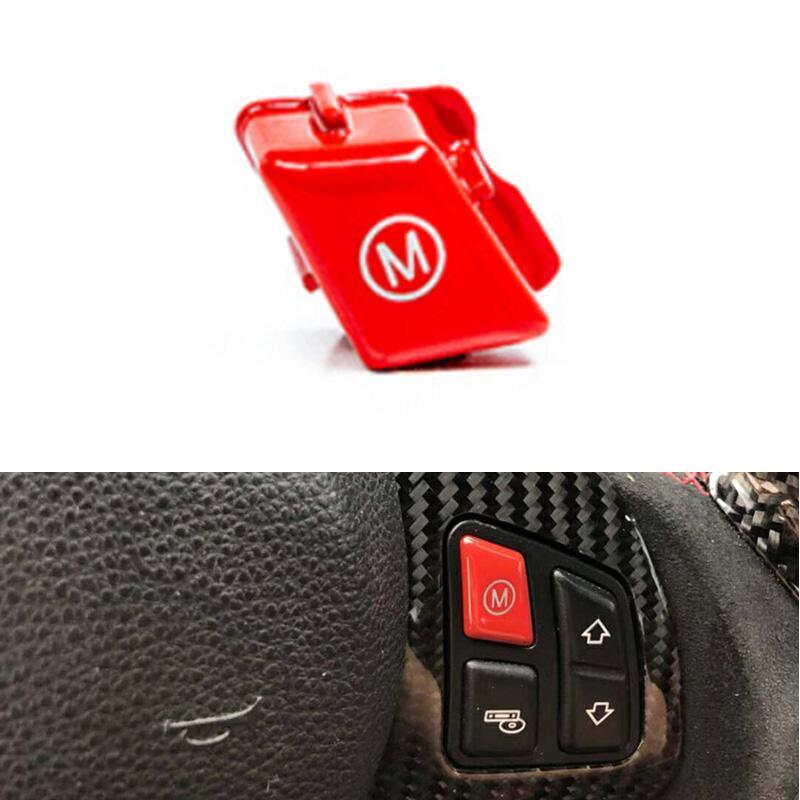 2 pièces/ensemble volant de voiture rouge M1 M2 Mode bouton de commutation garniture de couverture pour BMW M série M3 M4 F80 F82 F83 2013 +
