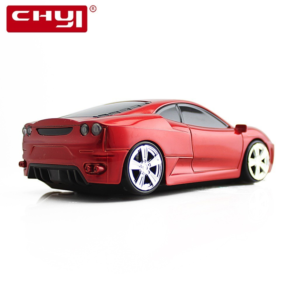 CHYI Wireless Mouse Ergonomic 2.4Ghz 1600 DPI Scuderia Coupe F430 Superfast Sports Car Mouse For PC Laptop Desktop Supercar Mice