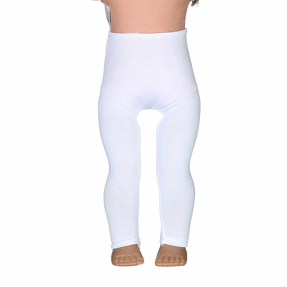 8f0a29a6922d1 ... 2 color White Leggings Tight Pants Fit 18 Inches American Doll Baby Doll  Clothes Accessories Handmade ...