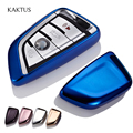 3 4 Buttons Soft TPU Blade Sieries Smart Key Rings Protection Case Cover for BMW X5 X6 Protect Shell Car Styling Cover Case
