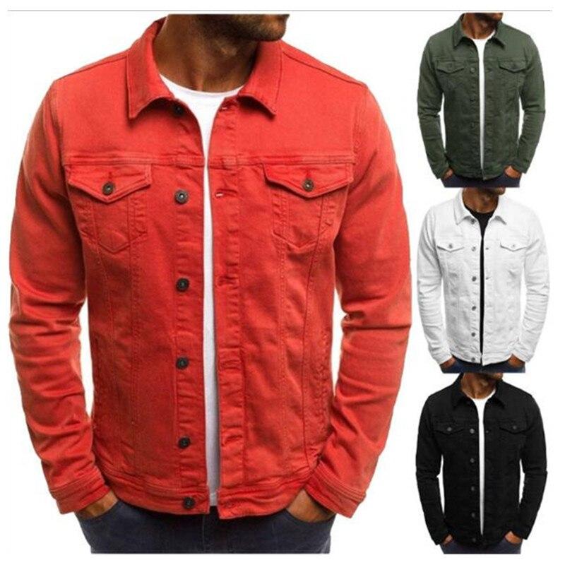 2019 Men's Jacket Casual Overalls Jacket Jacket Coats Man Buttons Solid Multi-pocket Jogging Jacket Overalls...