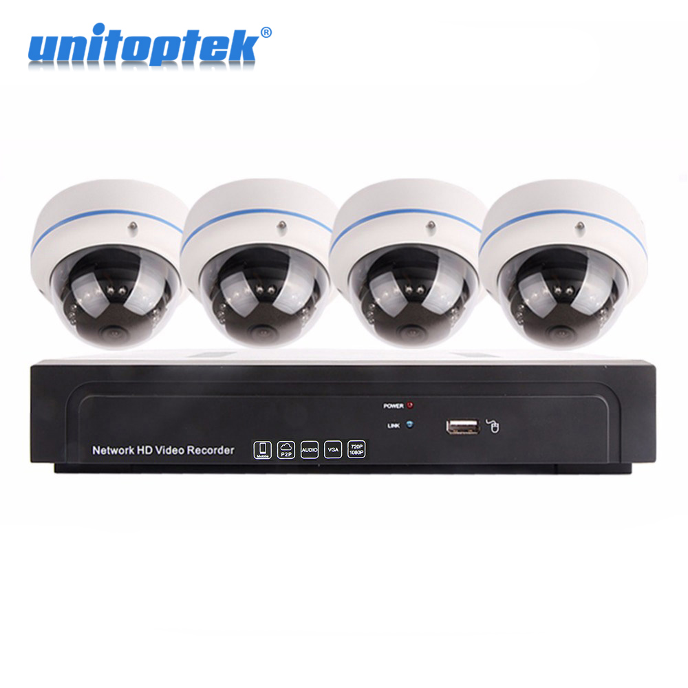 Outdoor Dome IP Camera HD Recorder 4CH POE NVR KIT 1080P Surveillance Camera Home Security System